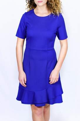 Jade Flounced Hem Dress