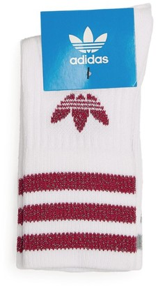 adidas Embellished 3-Stripes Crew Socks (Pack Of 2)