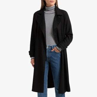 La Redoute Collections Draping Trench Coat with Belt and Pockets