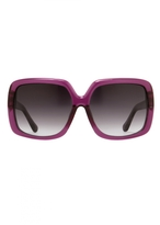 Matthew Williamson Amethyst Oversized Square Sunglasses