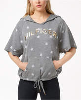 Tommy Hilfiger Printed French Terry Drawstring-Waist Hoodie, Created for Macy's