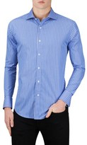Bugatchi Men's Classic Fit Stripe Sport Shirt