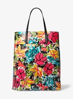 Michael Kors Ursula Medium Floral Fringed Calf Leather Tote Bag