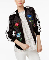 Cynthia Rowley CR By Embroidered Bomber Jacket, Only at Macy's