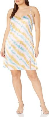KENDALL + KYLIE Women's Plus Size Slip Dress with Slit