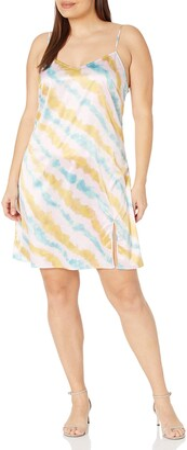 KENDALL + KYLIE Women's Regular Slip Dress with Slit
