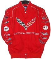 Authentic Corvette Racing Embroide Cotton Jacket JH Design Size Xlarge