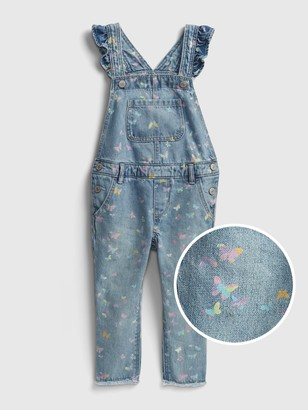 Gap Toddler Recycled Ruffle Overalls