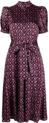 Alice + Olivia Floral-Print Tie Waist Dress