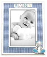 Reed & Barton Gingham Bear 4-Inch x 6-Inch Picture Frame