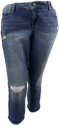 SLINK Jeans Women's Plus Size Caralyn Frayed Crop 22
