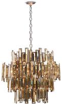 Eurofase Vienna Collection 15-Light Chrome Chandelier with Crystal Shade