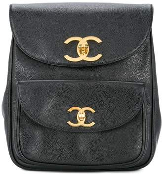Chanel Pre-Owned 1994-1996 interlocking CC flap backpack