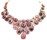 Tresor Collection - Bicolor Tourmaline And Diamond Necklace in 18kt Yellow Gold