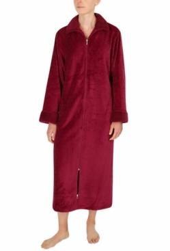 Miss Elaine Sculptured Fleece Long Zipper Robe