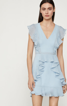 BCBGMAXAZRIA Flounced Ruffle Mini Dress