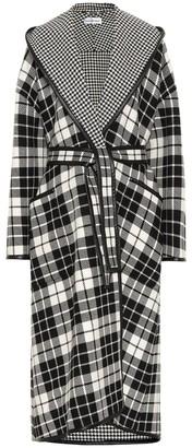 Balenciaga Checked wool-blend coat