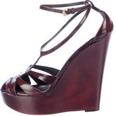Burberry Burnished Wedge Sandals