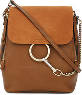 Chloé Faye leather & suede backpack