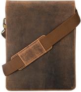 Visconti Tan Leather Tablet Messenger Bag