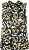 L'Autre Chose back tied neck blouse - women - Silk - 40
