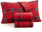 Martha Stewart Collection 4-Pc. Plaid Fleece Queen Sheet Set, Created for Macy's