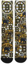 For Bare Feet Boston Bruins Montage Socks