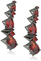 Noir Arctic Ice Red and Black Ear Cuff