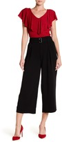 Adrianna Papell Belted Crepe Culotte
