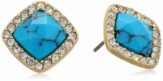 lonna & lilly Women's Cushion Gold Stud Earrings