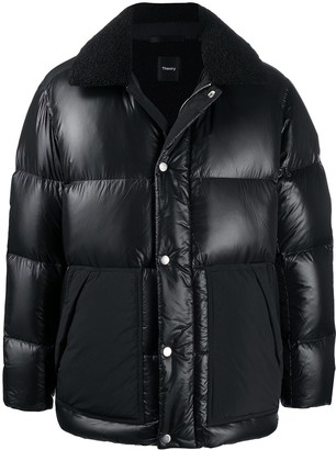 Theory Panelled Padded Coat