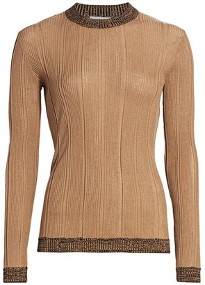 Ganni Two-Tone Ribbed Sweater