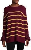 Manoush Women's Merino Wool Striped Blouse