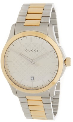 Gucci Unisex G-Timeless Two-Tone Stainless Steel Watch, 38mm
