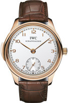 Iwc Iw544907 Portugieser Minute Repeater 18ct Rose-gold And Leather Watch
