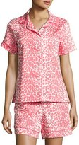BedHead Wild Thing Shortie Pajama Set, Coral/Ivory, Plus Size