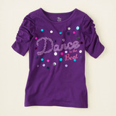 Children's Place Ruched sleeve graphic tee