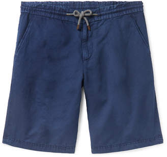 Brunello Cucinelli Linen And Cotton-Blend Canvas Drawstring Shorts