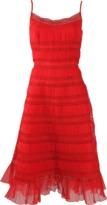 Oscar de la Renta Tea Length Tank Dress