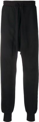 Thom Krom Drawstring Drop-Crotch Trousers