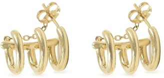 BONDEYE JEWELRY 14kt Yellow Gold Three-Hoop Cuff Earrings