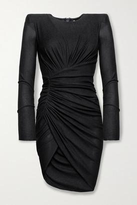 Alexandre Vauthier Ruched Stretch-jersey Mini Dress - Black