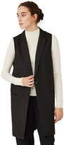 Frank & Oak Long Sleeveless Blazer in Black