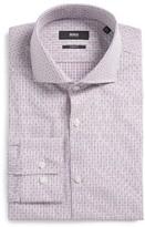 BOSS Men's Mark Slim Fit Check Dress Shirt