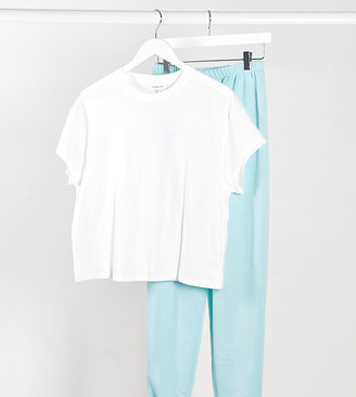 Topshop Petite weekend t-shirt in white