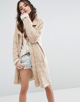 Free People Wild Things Knit Pea Coat