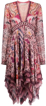Etro abstract leopard print dress