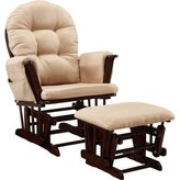 Relaxing Harbour Glider ( (26W X 28-3/8D X 38H ) Rocker and Ottoman (20W X 15-1/2D X 14-3/4H) Set, Beige by Baby Relax