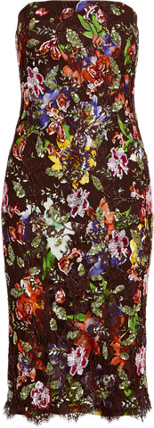 Thumbnail for your product : Ralph Lauren Karolin Embellished Lace Cocktail Dress