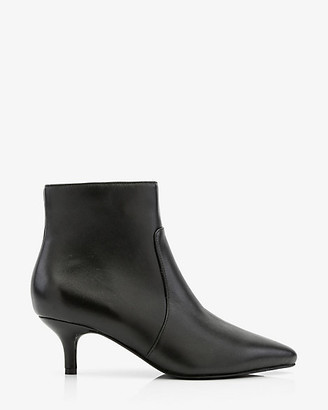 Le Château Leather Pointy Kitten Heel Ankle Boot